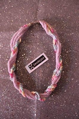 Collana tricotin e uncinetto