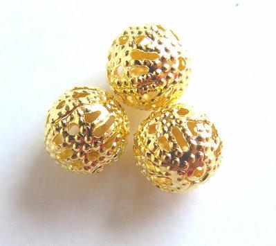 20 Perle filigrana gold 8 mm PRL254