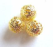 Perle filigrana dorate 8 mm PRL254