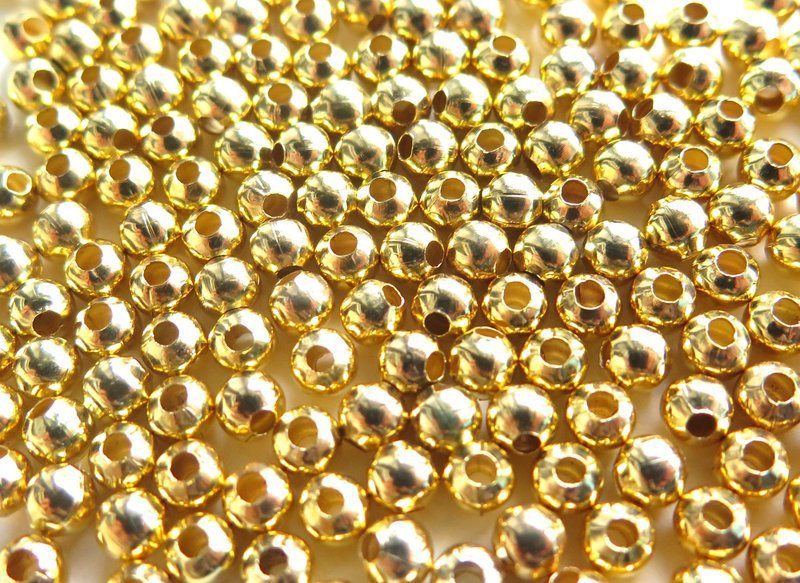 20 Perle GOLD 8 mm PRL255