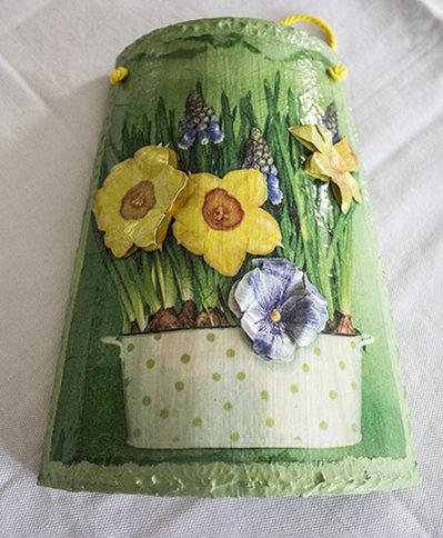 tegolina in legno fiori