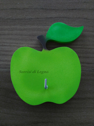 Appendino per presine singolo con mela verde