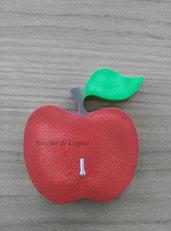 Appendino da cucina per presine singolo con mela rossa