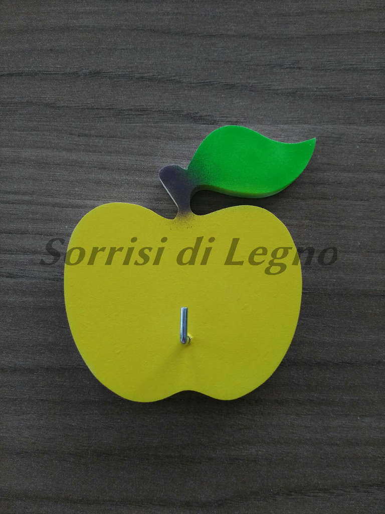Appendino da cucina per presine singolo con mela gialla - Per la ca ...