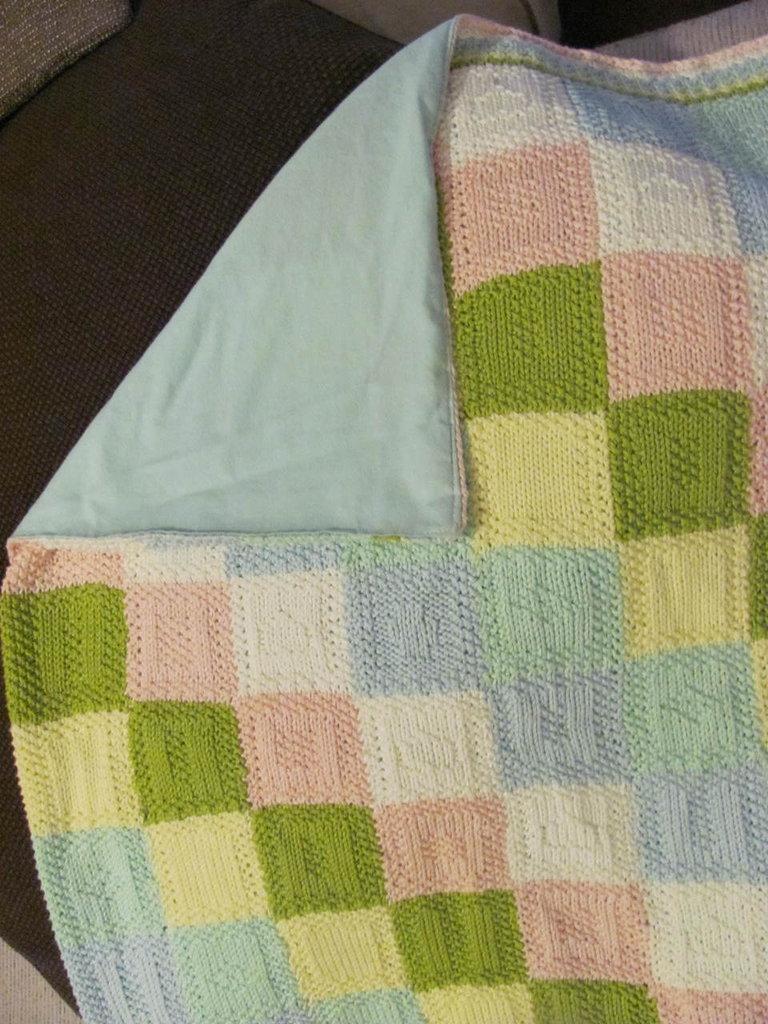 Copertina uncinetto quadrati neonato cotone