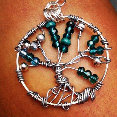 Ciondolo albero della vita swarovski verde