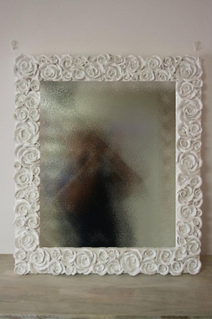 """Specchio floreale """"AUGUSTA"""" 45x45 cm"""