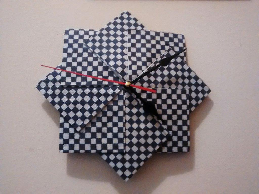 Orologio da parete origami carta per la casa e per te for Carta da parete