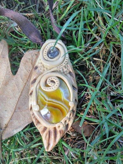 Agata gialla e granato - Be a Tree
