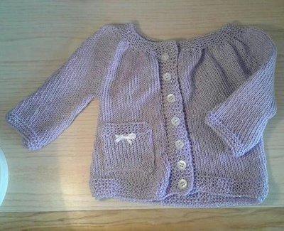 Golfino cardigan bimba neonata in cotone ai ferri