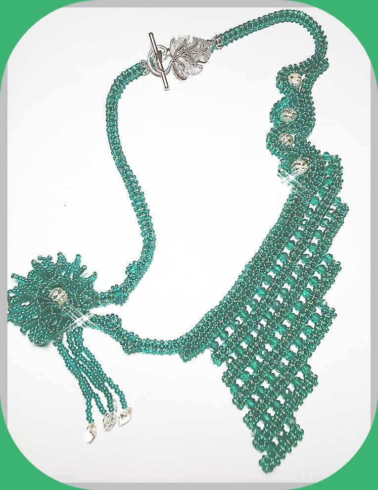 """Collana """"Green Flower"""""""
