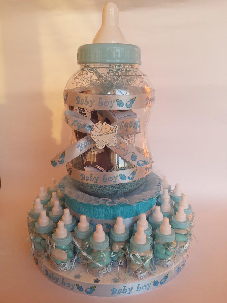 Favoloso Torta bomboniera di benvenuto biberon 1 - Bambini - Nascita - di  PH84
