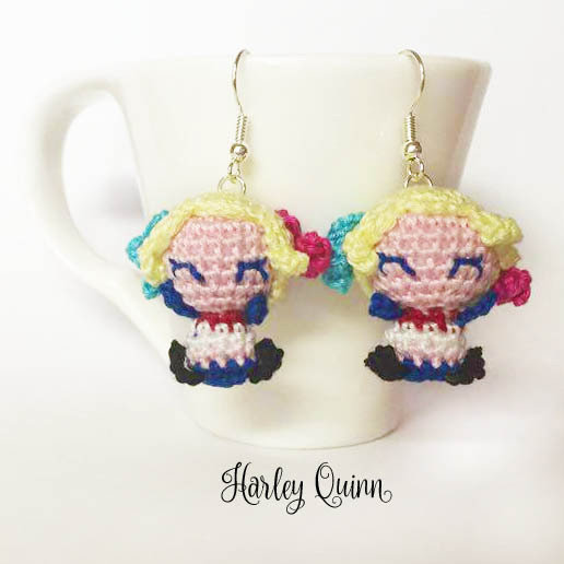 Harley Quinn amigurumi orecchini