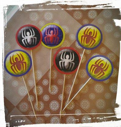 cupcake topper spiderman