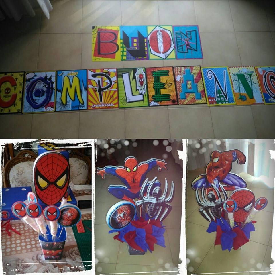 centrotavola spiderman (uomo ragno)