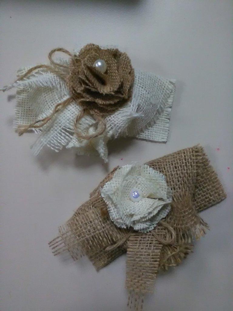 segnaposto sacchetto confetti bomboniera cerimonia juta artigianale