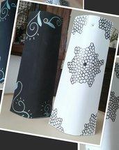 Tegole in legno e ceramica