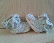Stivaletti coccodrillo lana uncinetto