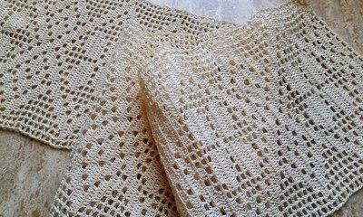 Tramezzo all'uncinetto in cotone.