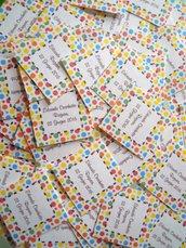bigliettini bomboniere colorati