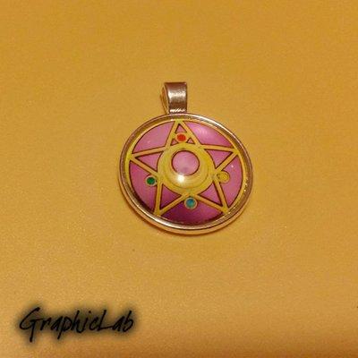 Collana Cameo Stella di Cristallo Crystal Star Simbolo di Sailor Moon