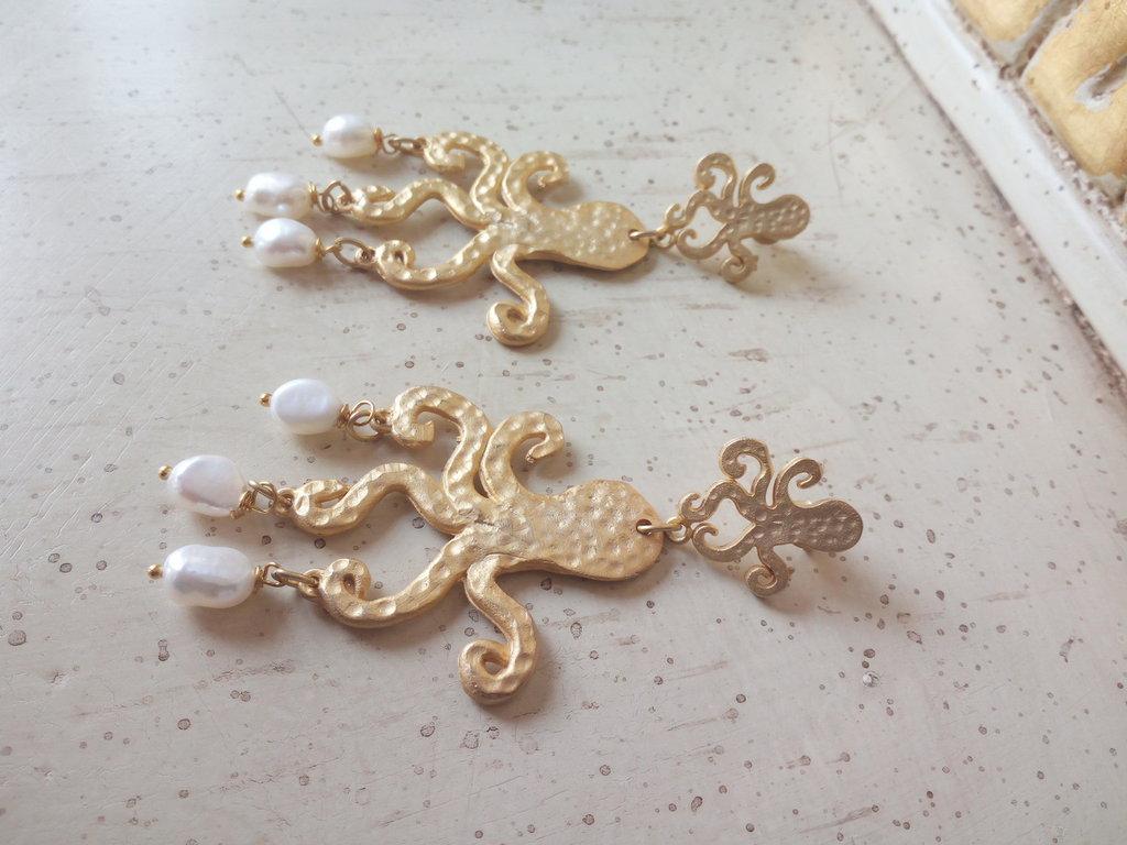 Orecchini oro e perle