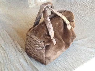 Borsa bauletto pelliccia marrone