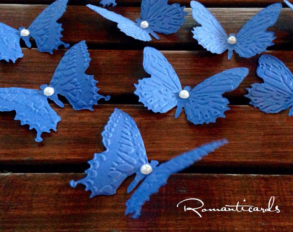 Farfalle di cartoncino colorato in rilievo by Romanticards