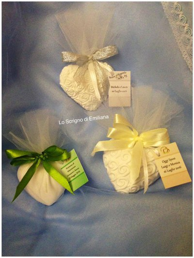 Segnaposto- Wedding favours- gadget per Matrimonio/Promessa/Anniversario gessetto profumato
