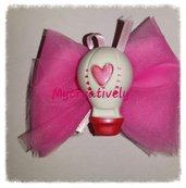 Bomboniera velo rosa con mongolfiera decorata