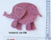 Fustellato Feltro Elefante  AN08