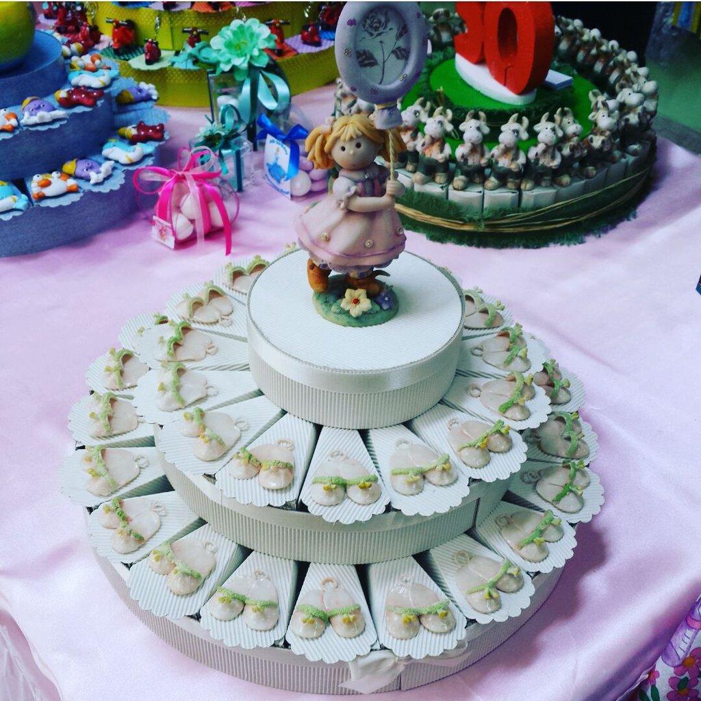 Torta Bomboniera Scarpine Ceramica