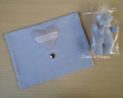 Pochette portapannolini,portaoggetti e asciugamano - Idea regalo
