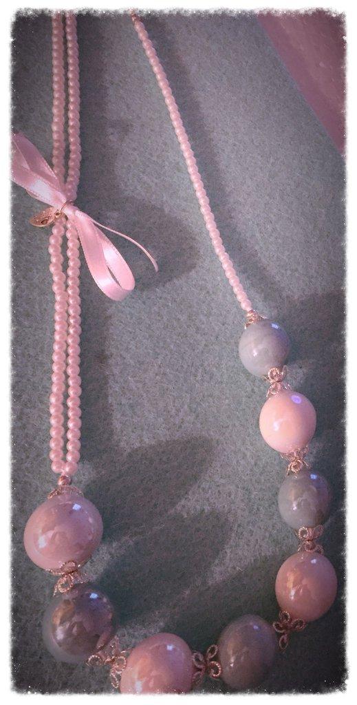 Collana di Perle con Fiocco