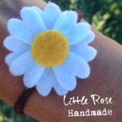 Un set di 2 Codini per capelli a fiori di Margherite by Little Rose Handmade