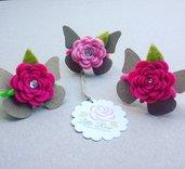 2 Codini per capelli con Roselline by Little Rose Handmade