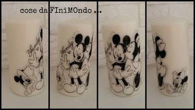 candela personalizzata family topolino e minnie