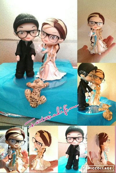 cake topper wedding personalizzato