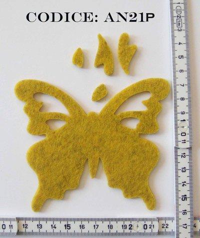 Fustellato Pannolenci Farfalla AN21P