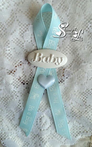 10 pezzi - Segnaposto con targhetta scritta Baby