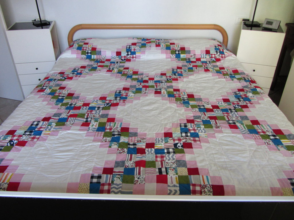 Trapunta matrimoniale patchwork