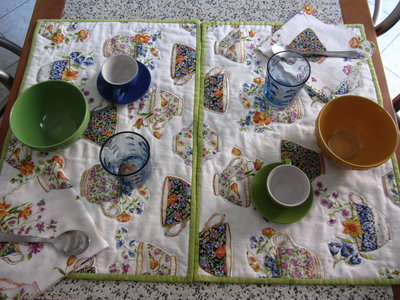 Tovagliette americane disegni teiere