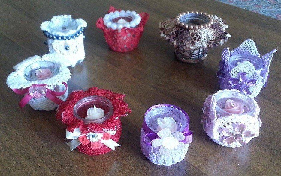 Vasetti decorati portacandele per la casa e per te - Vasetti vetro decorati ...