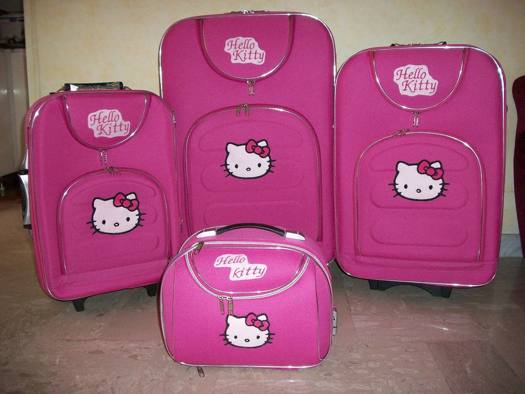set valigie 4 pz hello kitty artigianali
