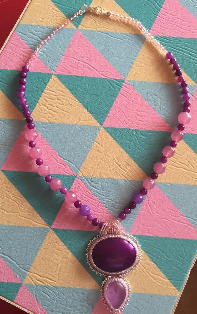 Collana Embroidery Viola