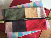 Pochette in stoffa rettangoli colorati