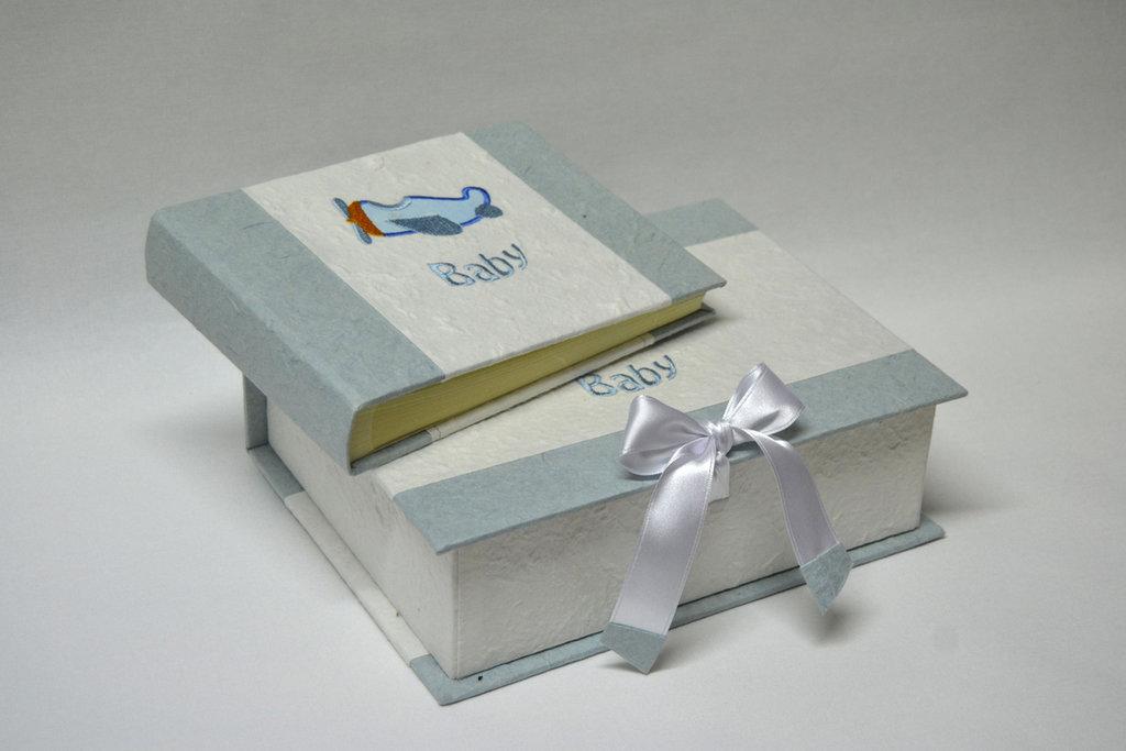 Album con scatola bimbo/a