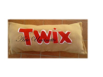 cuscino a forma di twix