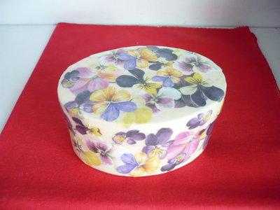 scatola legno con fiori