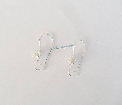 Base orecchini ovali  in Ottone con rosellina colore argento 1coppia